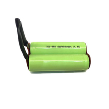 Industrial Packing Ni-MH AA900mAh Batteries 2.4V AA 900mAh Nimh Rechargeable Battery with Wire and Plug