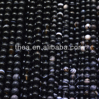 Unisex design black color natural stone loose beads shower curtain for jewelry making express alibaba