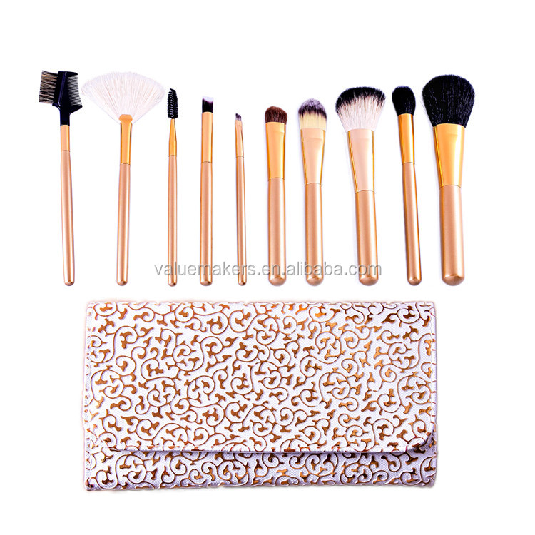 Rose gold makeup <strong>brushes</strong>,wholesale makeup <strong>brushes</strong>,custom makeup <strong>brushes</strong> 10pcs