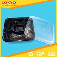 disposable 5 compartment bento lunch box containers