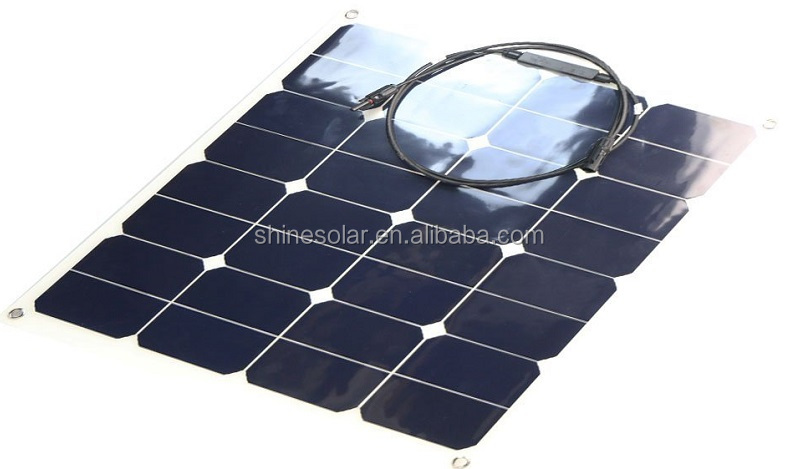 50W Flexible solar photovoltaic panel , sunpower solar cell with CE certificate