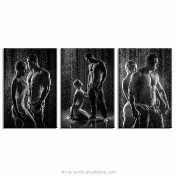 Man and Woman in Love Photo Canvas Printing Black and White Picture Canvas Wall Decor HD Canvas Printing