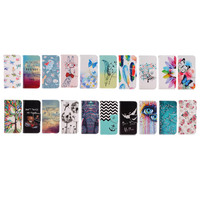 New fashion painted pattern pu leather wallet stand case flip cover for samsung galaxy S6/S7 edge