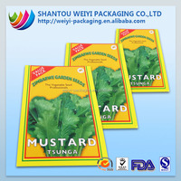 high temperature resistant plastic glue 3-side sealed seed bags packing