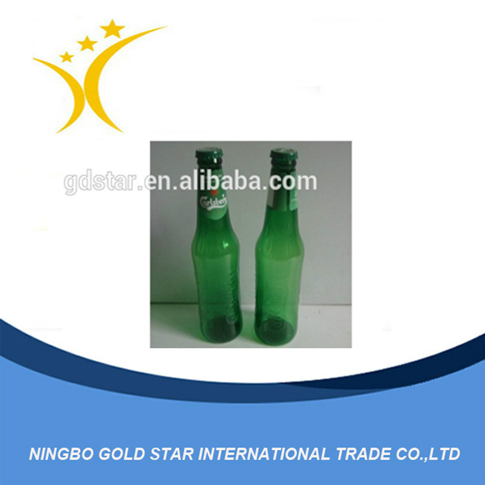 Green and Transparent beverage Glass Bottle for Drink