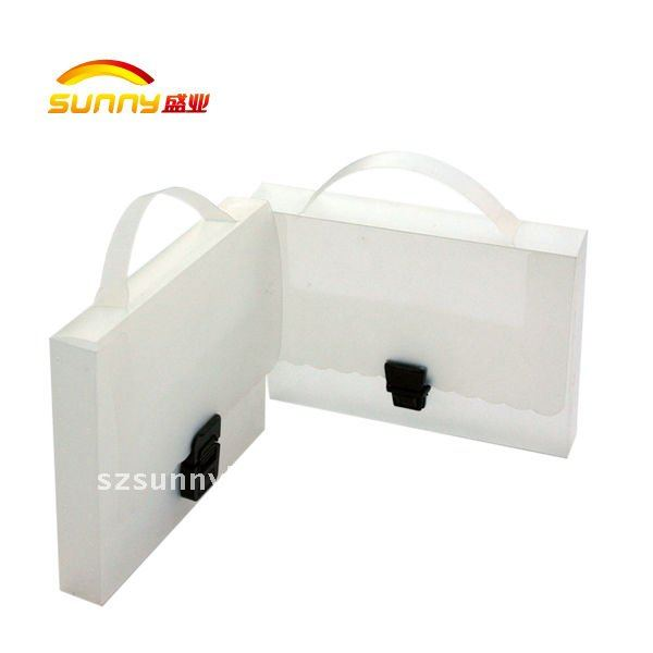 PP plastic file case with handle