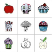 Hot Food Floatinf Locket Charms for Glass Locket