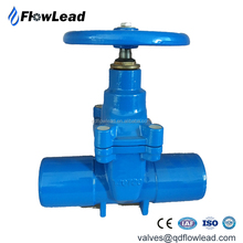 Ductile iron socket end gate valve for DI pipes PN16