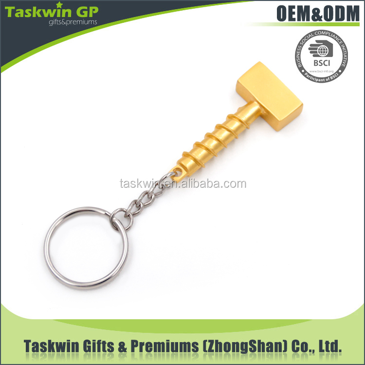 China wholesale promotional gifts cheap custom keychain / hardware shaped metal keychain