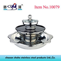chinese style 3 storey hot pot with grill electric pottery stove available