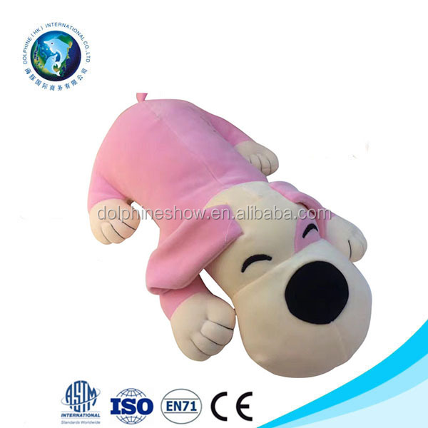 Soft Material Baby Pillow Animal Dog Fancy Stuffed Plush Toy Custom Animal Throw Pillow Bear Doll