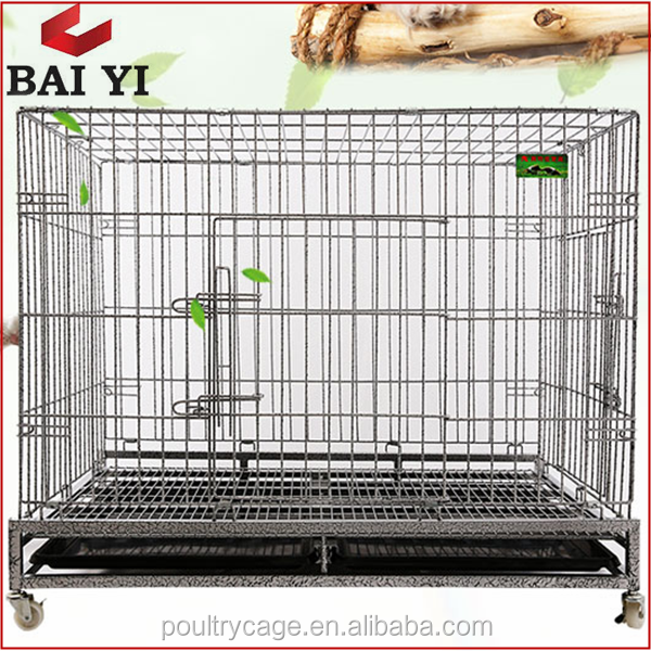 Stainless Steel Dog Cage With Plastic Pallet