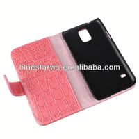 Direct factory price for samsung s5 crocodile leather wallet pu wallet case for samung galaxy s5