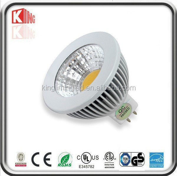 Fashionable white 6v led bulb mr16 with ETL//CE//PSE/SAA/UL/ROHS/C-tick approval