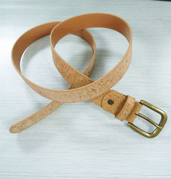 Boshiho new design Eco-friendly high quality Stainless Buckle Men's Cork Belt