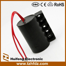 AC motor starting capacitor with bakelite body