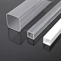hight transparency extrude clear tube. 100% virgin material making acrylic tube for lighting and packing