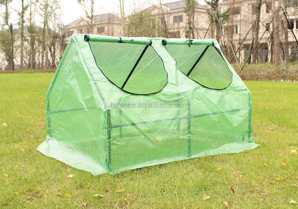 Compact Outdoor Seed Starter Greenhouse Cloche with PE Protection Cover for Protected Gardening