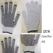 Wholesale Cheap PVC dot Nylon /Cotton dotted Safety knitted latex PVC coated Working gloves