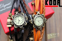 2015 Koda New Product Butterfly Pendant Decorated Lady Leather Bangle Bracelet Watch