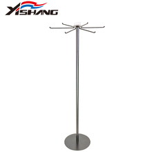 Countertop rotating metal jewelry display stand/hanger with sign holder