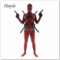 Movie Costume 3D Printed Mens/Women/Kids Adults Deadpool Cosplay Suits Halloween Full Body Suit HNF031