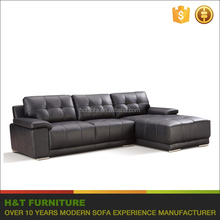 Modern l shape sofa factory corner sofa set designs funiture leather sofa