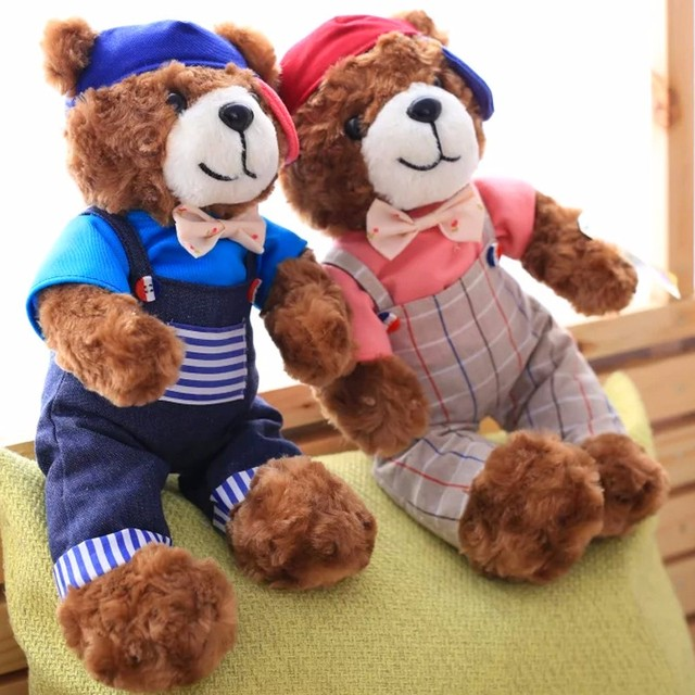 Customize cute Plush Toy Naughty Teddy Bear for Children's Birthday Gifts