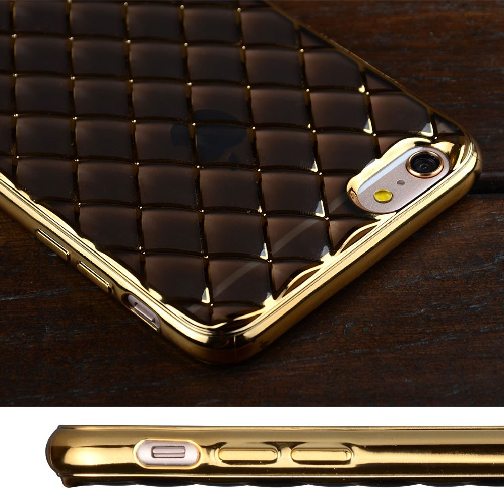 C&T Luxury Shining 3D Bump Water Cube Electroplate TPU Bumper Cell Phone Case For Iphone 6