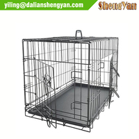 Basics folding metal dog kennel for 2 doors