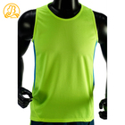 Wicking and quick drying green men workout clothing t shirts sports training t shirts