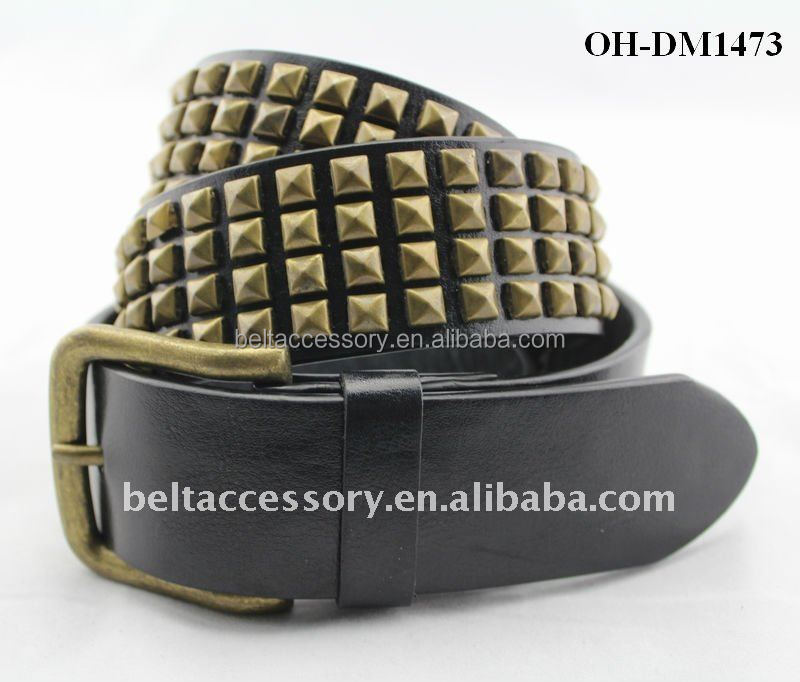 Genuine Leather Pyramid Studded Belts