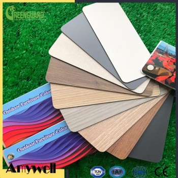 Amywell 8mm UV-resistant 100% phenolic resin teak compact hpl decorative board
