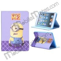 Cute Cartoon Leather Case Minion Despicable Me 2 Case for iPad Mini / Retina