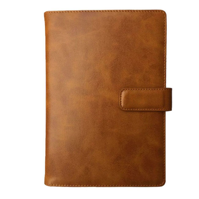 Leather diary cover for business gift