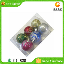 2015 New Item Fashionable Plastic Christmas Ball Hanging Ornaments