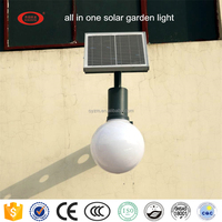 2016 new type all in one integrated led solar garden light