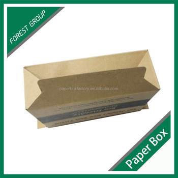 Recycle Strong Cheap Large Folding Brown Kraft Box With CMYK Prinitng