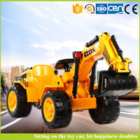Children's electric truck excavator can sit Ride toys have remote control