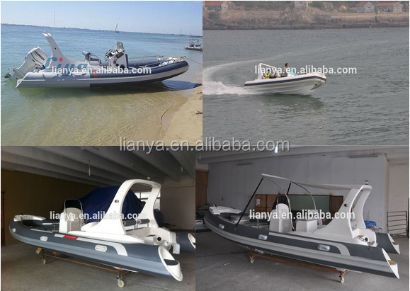 Liya water taxi boat 6.2m water fun sports equipment small boats fiberglass