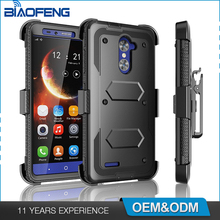 Top selling products 2017 custom three proofing defender holster belt clip cellphone case for Zte Max XL N9560 blade x max z983