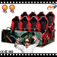 CE approval Electric System red chairs 5d electric cinema systems and peak 5d cinema with Real Feelings
