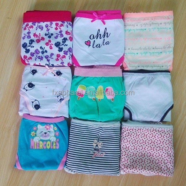 Printed cotton child underwear gilrs boys cotton panty