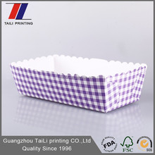New design disposable custom printed paper food tray /paper food boat tray wholesale