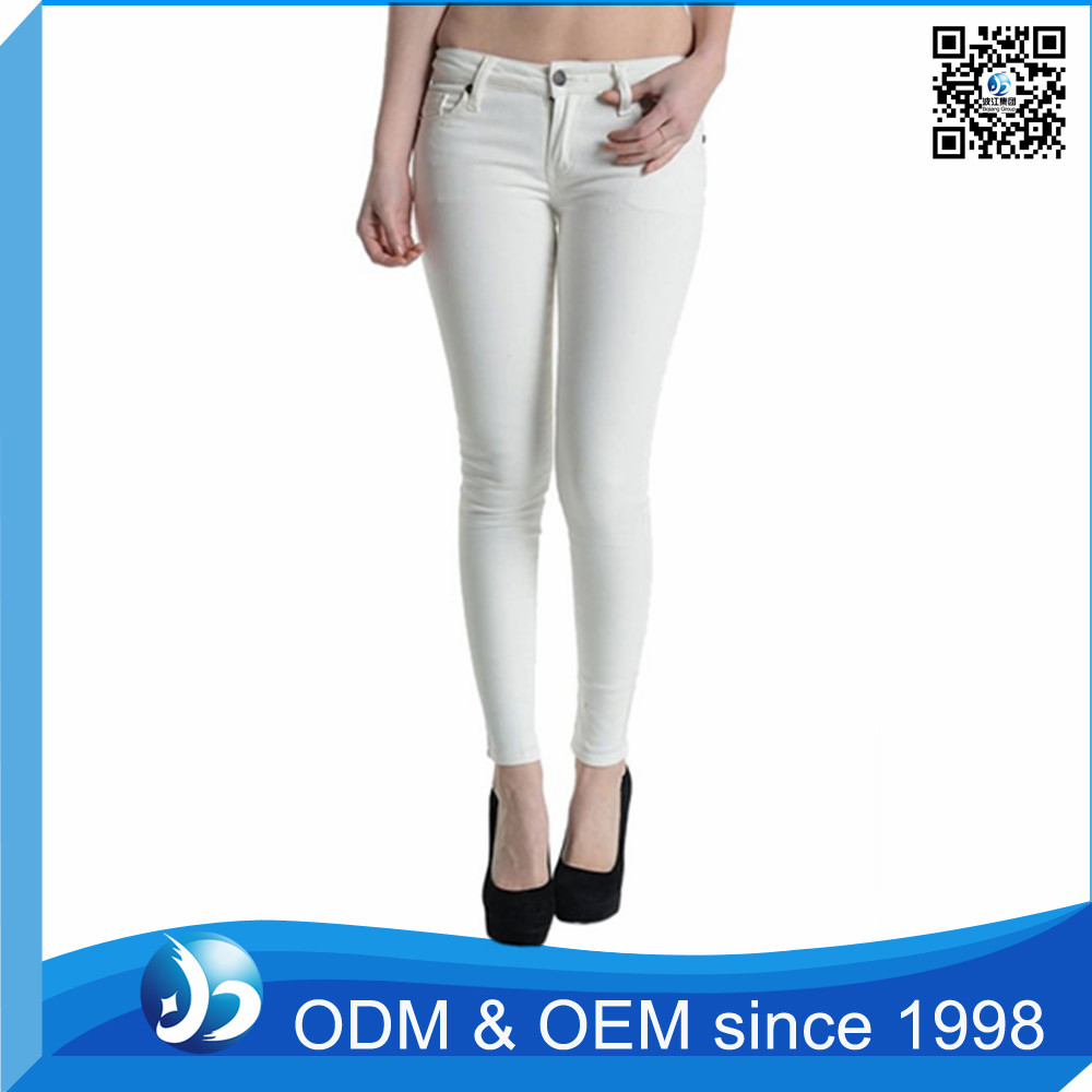 White Tight Stretchy Formal Pants For Girls