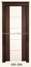 latest turkish interior pvc coated mdf wood door design with crown for hotel