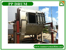 210 liter plastic drum for leather dyeing in china