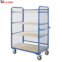 steel wire roll cage trolley