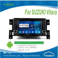 "Finenav 7 "" Touch screen Android4.4.4 Car DVD GPS for SUZUKI Vitara with Gps Navi,3G,Wifi,BT,Ipod,Free map Support DVB-T,DVR"