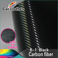 Hot Selling 1.52x30m air free bubble Car Fiber Vinyl Wrap 3D Carbon Folie Stickers